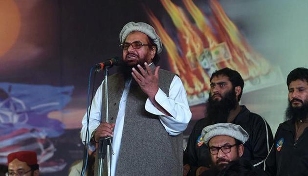 26/11 Mumbai attacks mastermind Hafiz Saeed is the founder of the banned Lashkar-e-Taiba terrorist group.(HT File Photo)