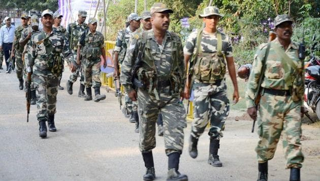 Personnel of the central armed police forces (CAPF) who will ensure security during the summer's Lok Sabha elections will move 78 times across the country between April 11 and May 23, the most they have in at least the past 15 years, data from the Election Commission (EC) shows.(PTI File Photo)