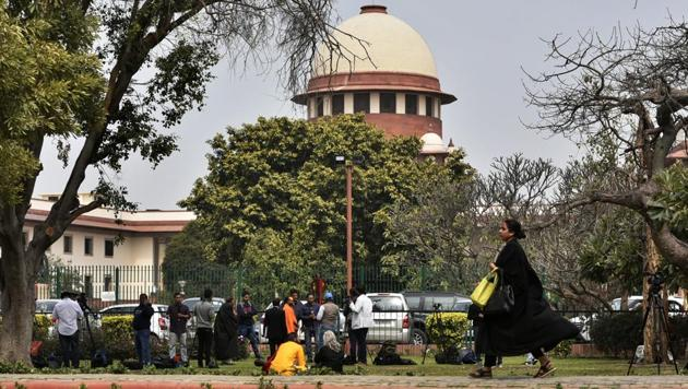 The Centre made a renewed pitch in the Supreme Court on Thursday to persuade the judges to remove the secret Rafale papers from the review petition, arguing that this could be done under the reasonable restriction law under the Constitution and RTI. The top court later reserved its order on the government request claiming privilege on use of documents classified as secret. (Biplov Bhuyan / HT File)