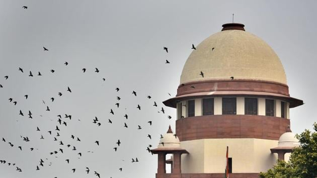A view of the Supreme Court.(Biplov Bhuyan/HT PHOTO)