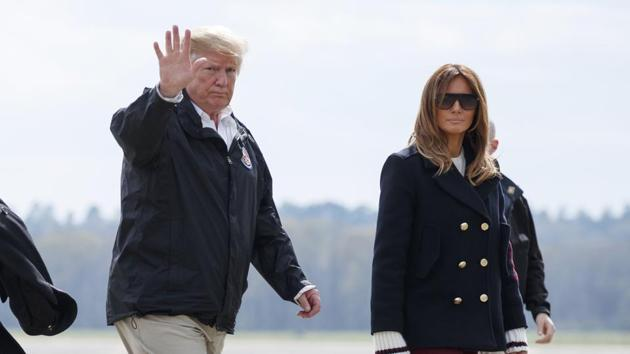 US President Donald Trump is not amused by the #FakeMelania conspiracy theories circulating on social media.(AP)
