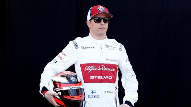 Alfa Romeo's Kimi Raikkonen poses for a photo ahead of Australian GP.(REUTERS)