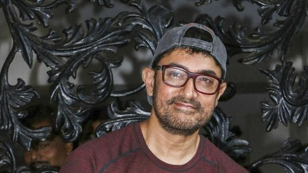 Aamir Khan was last seen in Thugs of Hindostan and has now announced that he is working on the look for Laal Singh Chaddha - an adaptation of Forest Gump.(PTI)