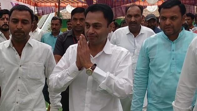 Madhya Pradesh chief minister Kamal Nath's elder son Nakul Nath (44) has started campaigning for the Congress.(Photo by Zaheed Khan)