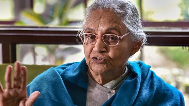 Delhi Congress chief Sheila Dikshit(PTI)
