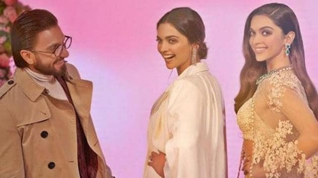 Ranveer Singh and Deepika Padukone where in London for the inauguration of her wax statue at Madame Tussauds museum.(Instagram)