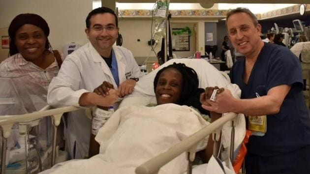 According to the hospital, the woman delivered two sets of twin boys and one set of twin girls between 4:50 am and 4:59 am local time Friday.(The Woman's Hospital of Texas/Facebook)