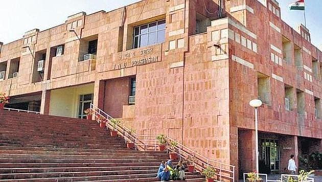 """Dismissing rumours of a hike in examination fee to the tune of 300%, the Jawaharlal Nehru University (JNU) administration on Friday said it was """"aghast at the widespread misinformation being circulated"""".(File Photo)"""