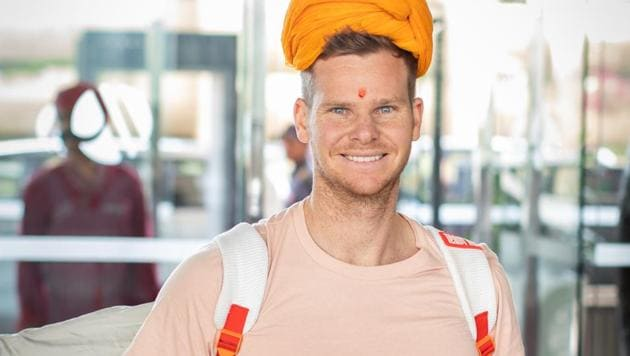 Steve Smith joined the Rajasthan Royals ahead of the new IPL season.(Rajasthan Royals)