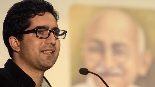 Former IAS officer Shah Faesal(Ravindra Joshi/HT PHOTO)