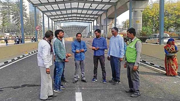 After a delay of over one-and-a-half years, the Iffco Chowk underpass was finally opened to traffic on Sunday morning by the National Highways Authority of India (NHAI), much to the relief of commuters.(Handout)