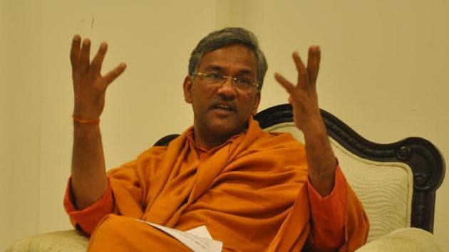 Uttarakhand chief minister Trivendra Singh Rawat.(HT File Photo)