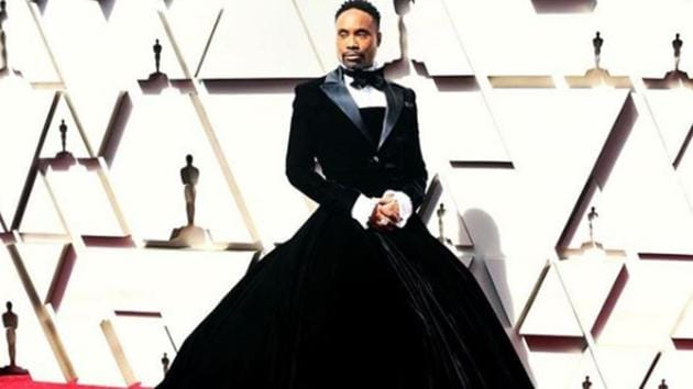Porter, the black and gay breakout star of the FX series 'Pose,' had bucked traditional Academy Award attire - fancy frocks for the ladies and basic tuxedos for men.(Billy Porter/Instagram)