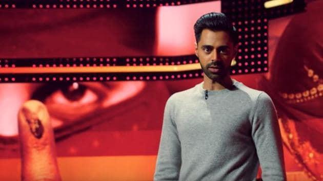 Hasan Minjah in a still from Netflix's Patriot Act.