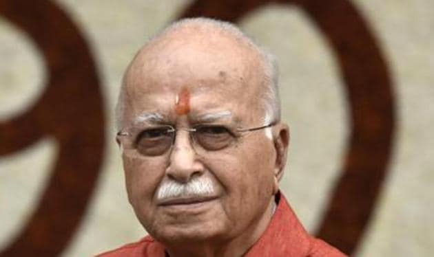 LK Advani, once compared to Loh Purush Vallabbhai Patel, is the sitting MP from Gandhinagar and has held the constituency since 1998 in five consecutive elections.(HT File Photo)