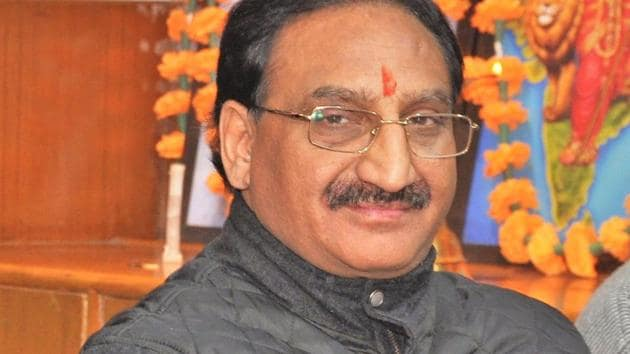 Former Uttarakhand CM and sitting MP Ramesh Pokhriyal Nishank has been fielded by the BJP once again from the Haridwar Lok Sabha constituency.(HT File Photo)