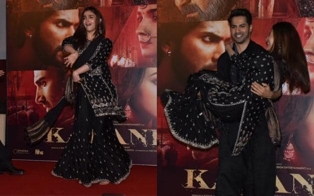 Alia Bhatt performs to the song Ghar More Pardesiya at the launch of the new number from Kalank.