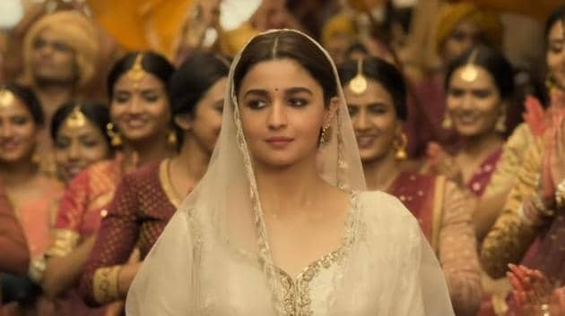 With the release of Kalank's teaser and the first song from the film featuring Alia Bhatt and Madhuri Dixit, it's quite clear that Alia is going to be seen in a lot of whites in the film.(Zee Music Company/YouTube)