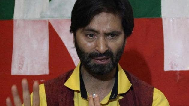 Jammu Kashmir Liberation Front (JKLF) chief Yasin Malik is under arrest and at present lodged in Jammu's Kot Balwal jail.(File Photo)