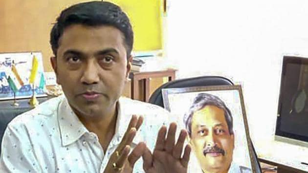 Goa Chief Minister Pramod Sawant formed government in the state earlier this week with two deputy chief ministers from BJP's alliance partners.(PTI)