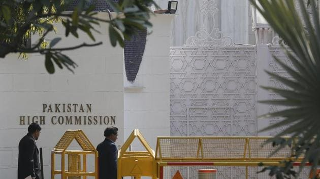 Police have also informed central intelligence agencies about the man's visit to the High Commission.(HT File PHOTO)