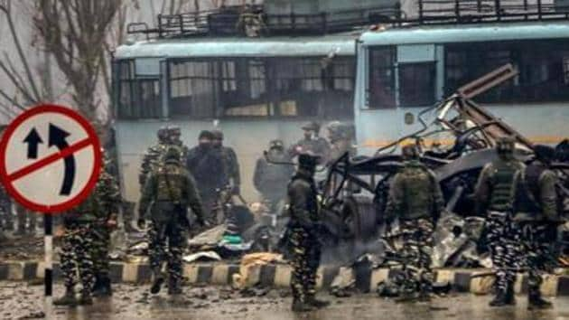 Forty CRPF personnel were killed on February 14 when Dar rammed his explosive-laden vehicle into a paramilitary force bus at Pulwama in south Kashmir.(PTI File Photo)