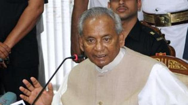 Rajasthan Governor Kalyan Singh said he wanted the BJP to emerge victorious in the 2019 Lok Sabha elections.(HT file photo)