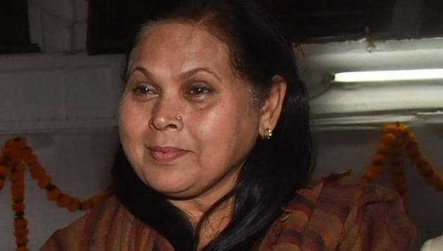 Putul Kumari , former Banka MP and BJP leader, is firm on filing nomination as an independent candidate.(HT FIle)
