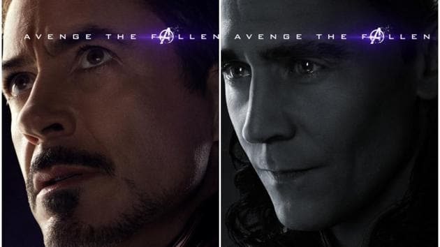 Tony Stark and Loki in the new Avengers: Endgame character posters