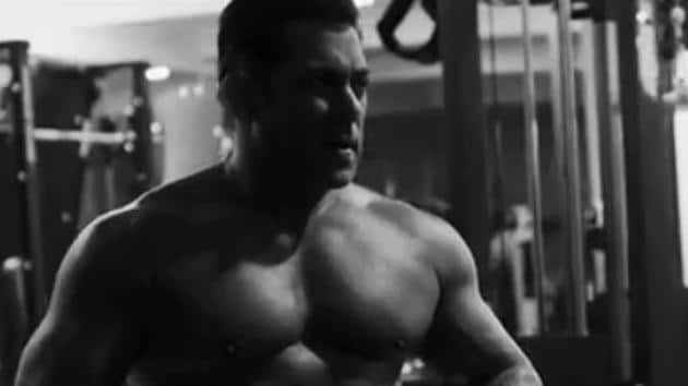 Salman Khan in a screen grab from a video on the launch of his new fitness equipment brand.(Instagram)