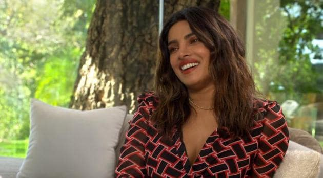 Priyanka Chopra on her chat show If I Could Tell You Just One Thing.