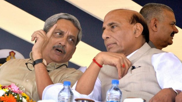 Singh also recalled how Parrikar 'alone' solve the one rank one pension issue.(PTI File)