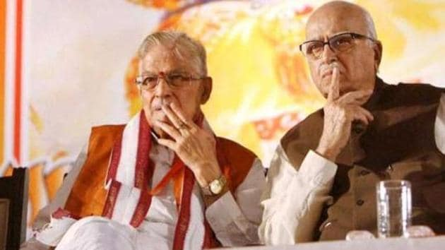 It's clear that Murli Manohar Joshi wanted to convey that he has not been given the party ticket and he will not accept this bitter truth as silently as Lal Krishna Advani(PTI)