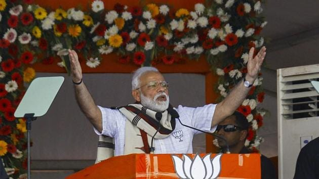 """Prime Minister Narendra Modi on Friday hit out at Telangana chief minister K Chandrasekhar Rao over the nearly three-month long delay in formation of his government's cabinet and said that it was possibly because of the chief minister's keen interest in astrology. Were the same astrologers also responsible for stalling the formation of the cabinet?"""" the PM said addressing a rally in Mahbubnagar. (PTI)"""
