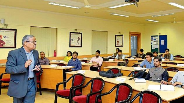 A class in progress at MIT School of Government. The private institute offers a two-year programme — MA in political leadership and government.
