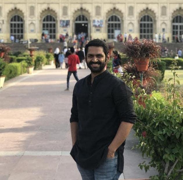 Actor Sharib Hashmani at Bara Imambara in Lucknow.