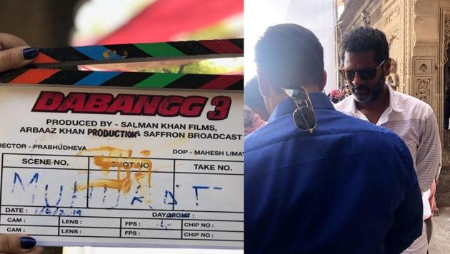 Pictures from the sets of Salman Khan's Dabangg 3 were shared online.(Twitter)