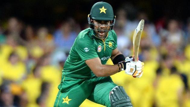 Umar Akmal of Pakistan plays a shot.(Getty Images)