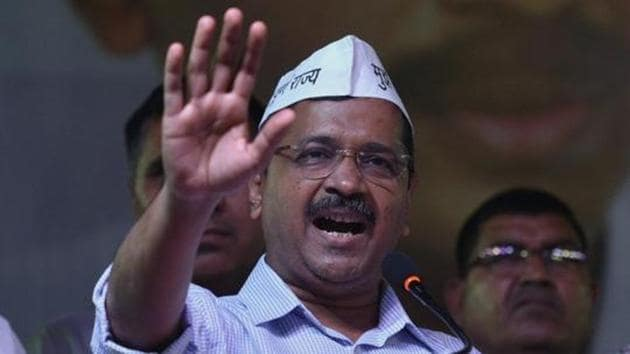 Delhi chief Minister Arvind Kejriwal on Monday said that there were no talks on an alliance with the Congress as its president Rahul Gandhi has already refused it.(Biplov Bhuyan/HT File PHOTO)