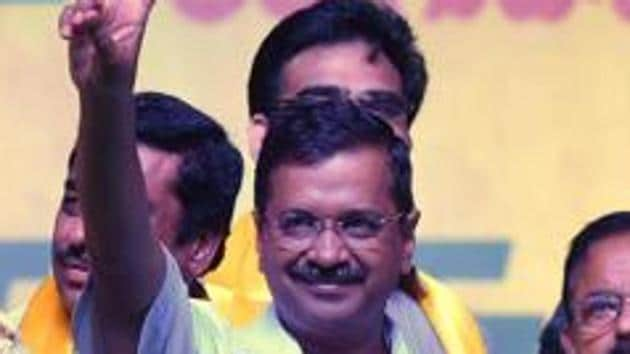 Aam Aadmi Party (AAP) national convener Arvind Kejriwal on Sunday said his party is single-handedly fighting for a full statehood status to Delhi.(ANI)
