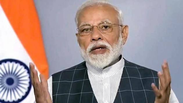 Prime Minister Narendra Modi announces the success of Mission Shakti, India's anti-satellite missile capability, in New Delhi, March 27, 2019(PTI)