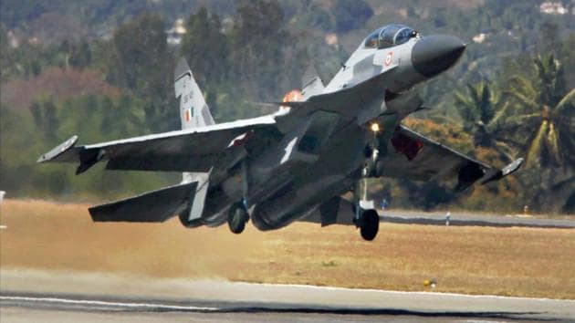 Indian Air Force's Sukhoi 30 plane.(PTI Photo)