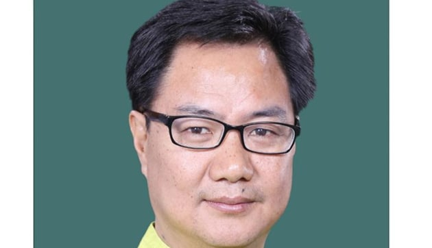 Election Results 2019: Union minister of state for home, Kiren Rijiju is the sitting MP from Arunachal West constituency.(HT PHOTO)