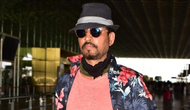 Irrfan Khan at the Mumbai airport.(Varinder Chawla)