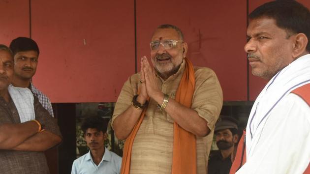 Union minister Giriraj Singh BJP candidate for Begusarai seat(HT)