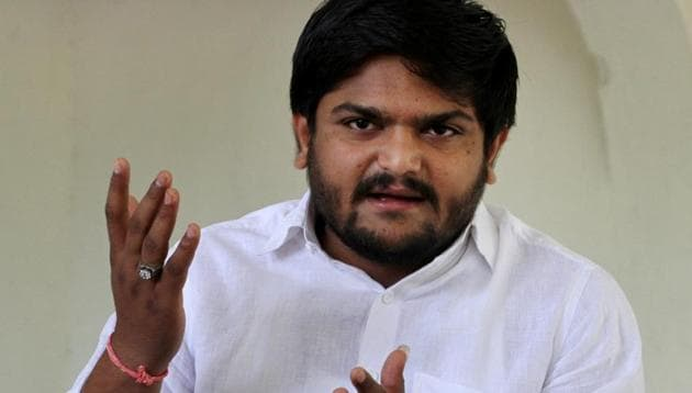 Hardik Patel moved the top court after his plea for stay was rejected by Gujarat High Court last week(PTI)