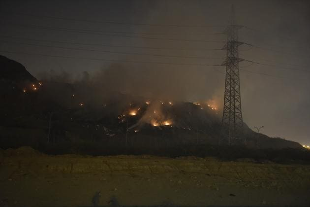 The fire raged for five hours before it was extinguished.(HT file photo)