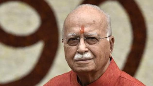 Bharatiya Janata Party (BJP) leaders such as Lal Krishna Advani, Murli Manohar Joshi, Uma Bharti, Kalyan Singh and Vinay Katiyar, who led the Ram Janmabhoomi movement, are absent from the electoral race this time.(HT FILE PHOTO)