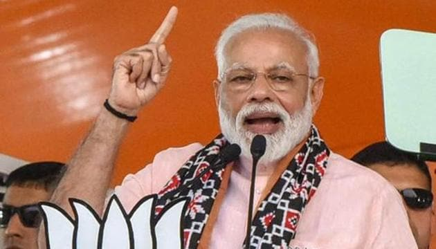 The BJP launched a Pehla Vote Modi Ko (first vote to Modi) campaign to woo the first-time voters.(PTI)