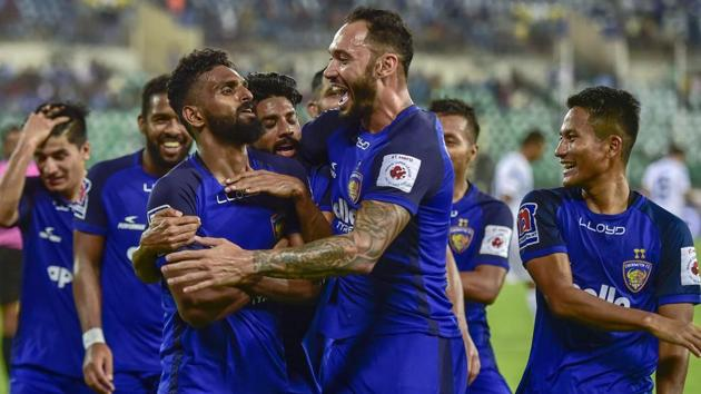 A file photo of Chennaiyin FC.(PTI)